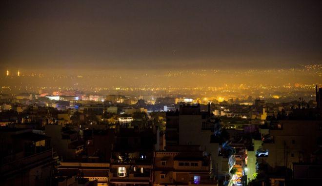 Ομίχλη πάνω από την Αθήνα