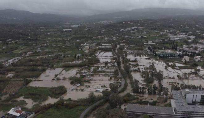 Εικόνα από την πλημμυρισμένη Σητεία