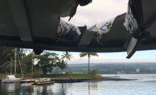 Ντοκουμέντο: Η στιγμή που λάβα πέφτει σε βάρκα με τουρίστες στη Χαβάη