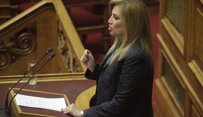 ΒΟΥΛΗ - Συζήτηση προ Ημερησίας Διατάξεως, σύμφωνα με το άρθρο 143 του Κανονισμού της Βουλής, με πρωτοβουλία του Πρωθυπουργού Αλέξη Τσίπρα, σε επίπεδο Αρχηγών Κομμάτων, σχετικά με τη μεταρρύθμιση του ασφαλιστικού συστήματος της χώρας, Τρίτη 26 Ιανουαρίου 2016.  (EUROKINISSI/ΓΙΩΡΓΟΣ ΚΟΝΤΑΡΙΝΗΣ)