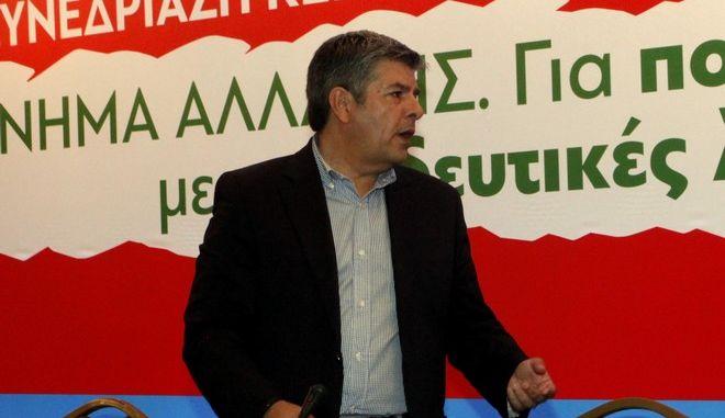 Ο βουλευτής του Κινήματος Αλλαγής Θοδωρής Παπαθεοδώρου σε συνεδρίαση της Κεντρικής Επιτροπής του κόμματος