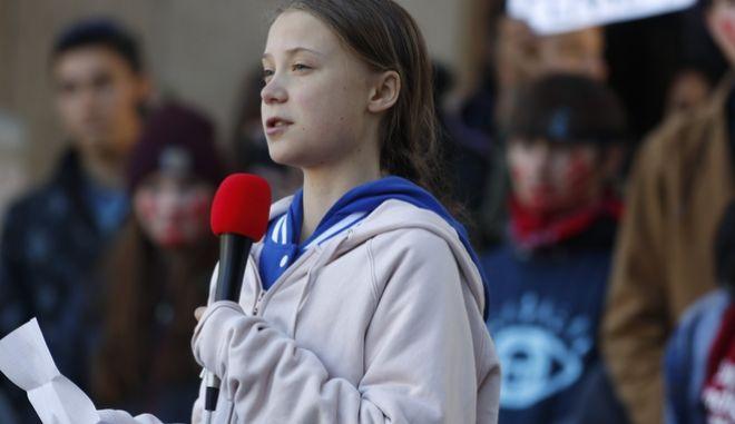 Η Greta Thunberg  σε ομιλία της για την κλιματική αλλαγή 11 Οκτωβρίου 2019