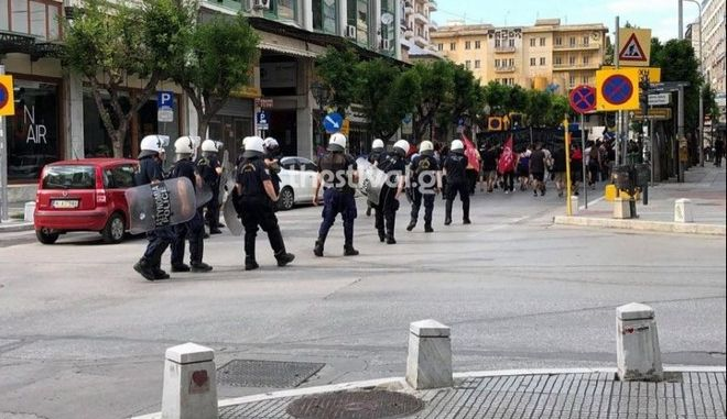 Αντιρατσιστική πορεία στη Θεσσαλονίκη