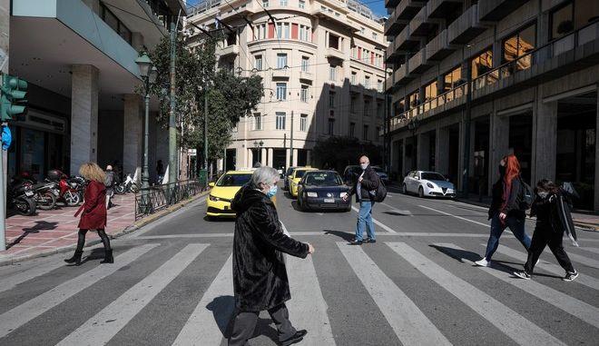 Εικόνα από την Αθήνα σε καιρό lockdown