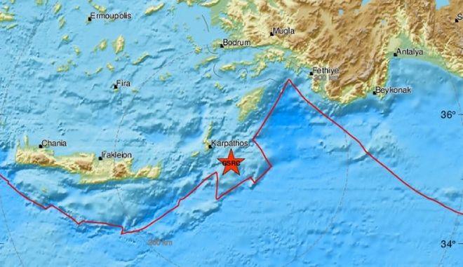 Νέος σεισμός 4 Ρίχτερ στην Κάρπαθο