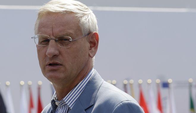 Ο Σουηδός πρώην πρωθυπουργός και πρώην υπουργός Εξωτερικών Carl Bildt