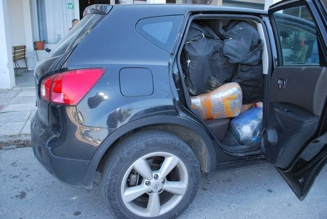Μετέφεραν πάνω από 200 κιλά κάνναβης με κλεμμένο τζιπ