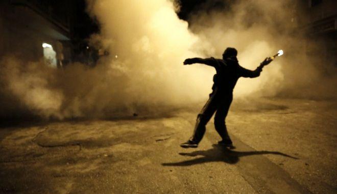 Επεισόδια στην πορεία για την 44η επέτειο του Πολυτεχνείου στην Αθήνα. Παρασκευή 17 Νοέμβρη 2017.(EUROKINISSI / Στέλιος Μισίνας)