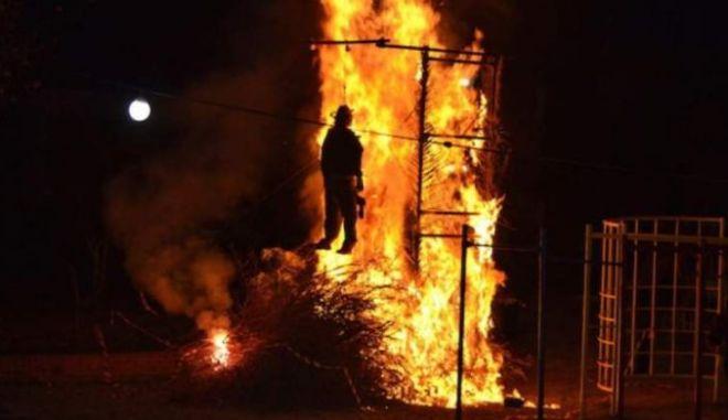 Το κάψιμο του Ιούδα στην Κρήτη