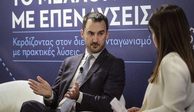 Ο αναπληρώτης υπουργός Οικονομιάς Αλέξης Χαρίτσης στο Συνέδριο του ΣΕΒ