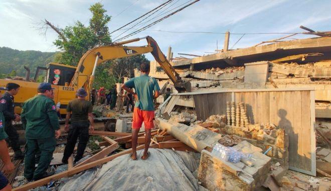 Κατάρρευση κτιρίου στην Καμπότζη