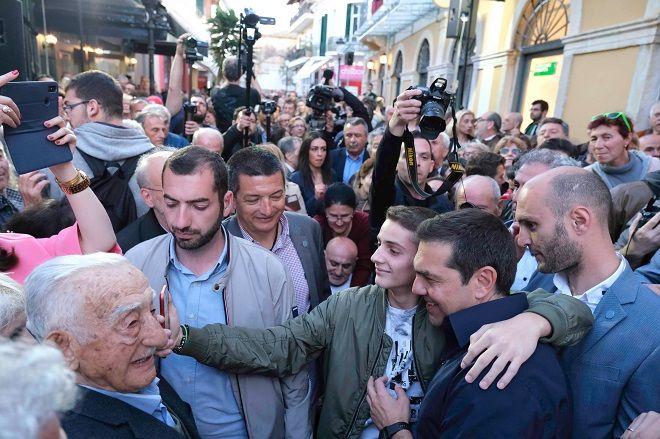 Περιοδεία στην πόλη της Πρέβεζας από τον Πρωθυπουργό Αλέξη Τσίπρα το Σάββατο 11 Μαΐου 2019.