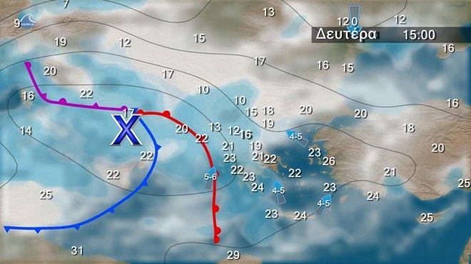 Καιρός: Σε πτώση η θερμοκρασία - Συνεχίζονται οι βροχές και οι καταιγίδες