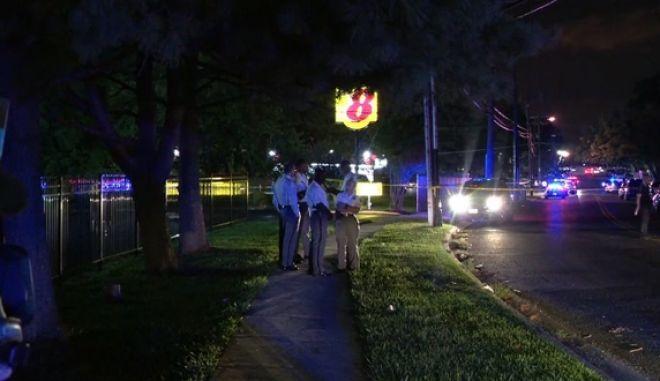 Εικόνα από το σημείο όπου σημειώθηκε η ένοπλη επίθεση σε πάρτι γενεθλίων μικρού παιδιού στο Μέριλαντ