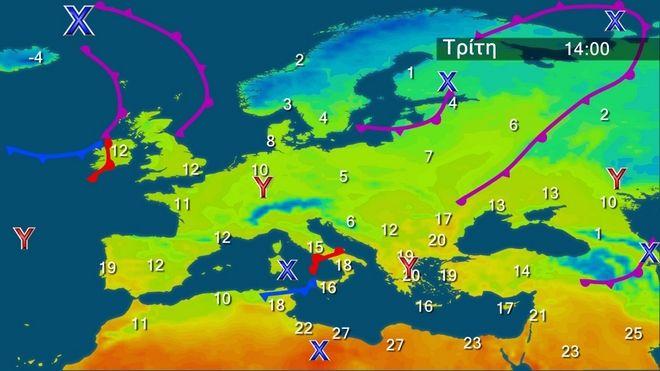 Καιρός: Υψηλές θερμοκρασίες και την Τρίτη