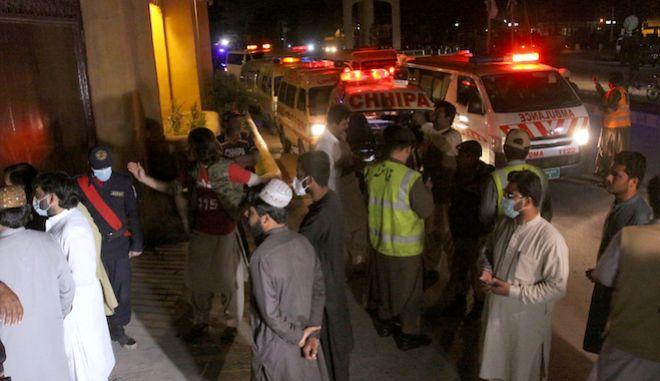 Τρεις νεκροί και 11 τραυματίες από έκρηξη σε πολυτελές ξενοδοχείο στην Κουέτα, Πακιστάν, 21 Απριλίου 2021