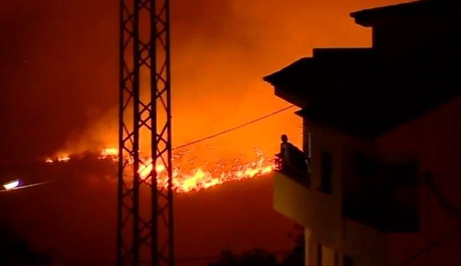 Φωτιά στο νησί Γκραν Κανάρια