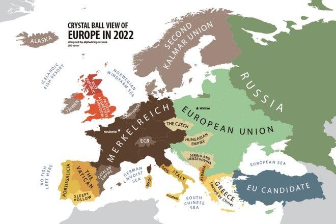 Ξεκαρδιστικός Χάρτης: Πώς βλέπει ο Πούτιν την Ευρώπη