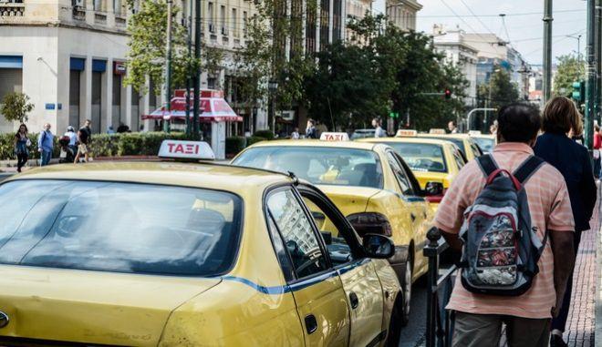 Νομοσχέδιο του Υπουργείου Μεταφορών για τις ηλεκτρονικές πλατφόρμες και εφαρμογές για ταξί. Πέμπτη 28 Σεπτεμβρίου 2017 (EUROKINISSI//ΛΥΔΙΑ ΣΙΩΡΗ)