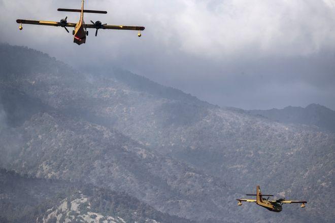 Φωτιά στα Γεράνεια Όρη: Μάχη για τρίτη μέρα - Πολλές και μεγάλες οι ενεργές εστίες