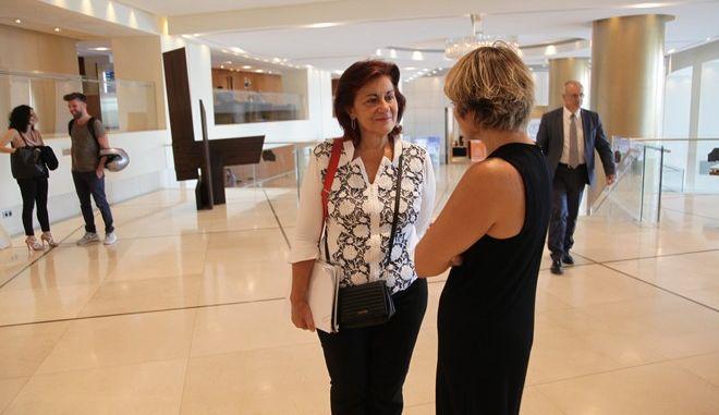 Συναντήσεις των εκπροσώπων των δανειστών για τον έλεγχο του ελληνικού προγράμματος την Τετάρτη 14 Σεπτεμβρίου 2016. Στη φωτό η αναπληρωτής υπουργός Κοινωνικής Αλληλεγγύης, Θεανώ Φωτίου. (EUROKINISSI/ΓΙΑΝΝΗΣ ΠΑΝΑΓΟΠΟΥΛΟΣ)