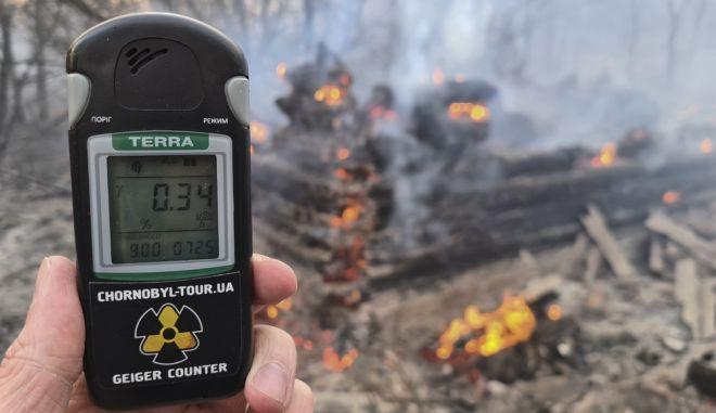 Μέτρηση ραδιενέργειας στο δάσος του Τσέρνομπιλ