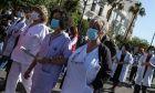 Συγκέντρωση της ΠΟΕΔΗΝ στη Πλατεία Μαβίλη και πορεία προς το Υπουργείο Υγείας, 22 Απριλίου 2021