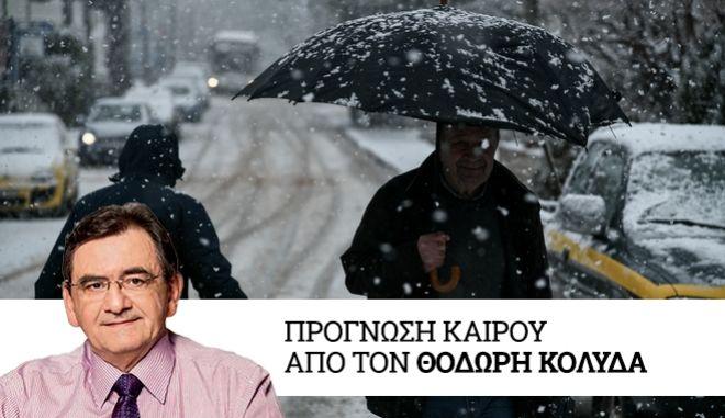 Πυκνή χιονόπτωση στον Διόνυσο