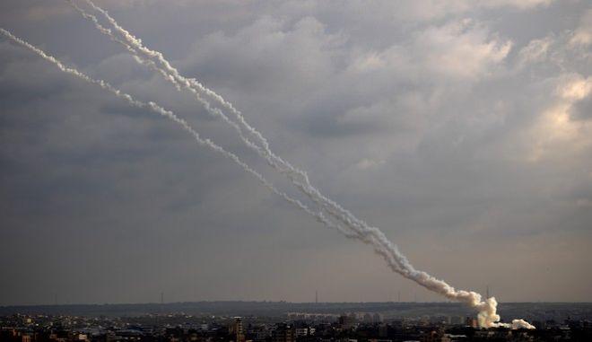 Εκτόξευση ρουκετών από τη Λωρίδα της Γάζας στο Ισραήλ (φωτογραφία αρχείου)