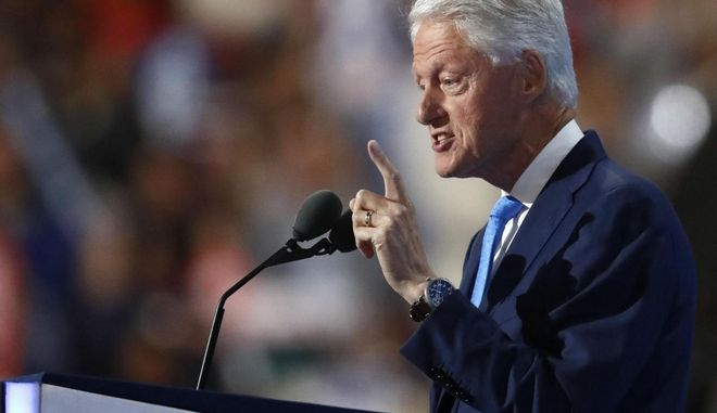Μπιλ Κλίντον: Το εγκώμιο της Χίλαρι έπλεξε σε ομιλία του ο σύζυγός της