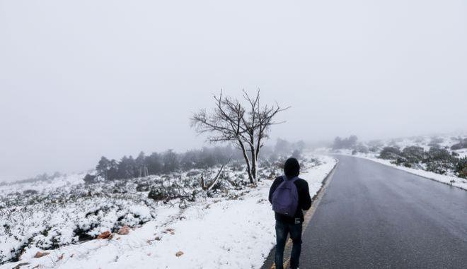 Χιόνια στη Πάρνηθα