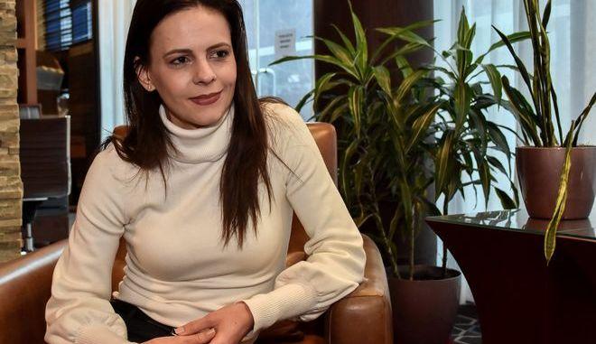 Η πρώην υπουργός Εργασίας, βουλευτής και μέλος της Κεντρικής Επιτροπής του ΣΥΡΙΖΑ Έφη Ατσιόγλου