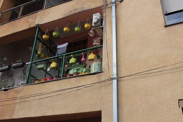Ιδιαίτερη διακόσμηση σε μπαλκόνι