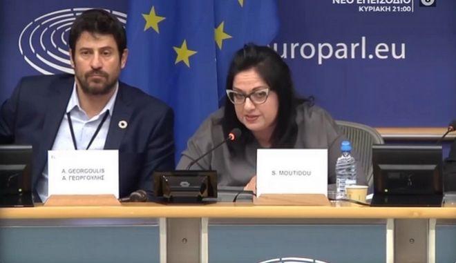 Αλέξης Γεωργούλης και Σοφία Μουτίδου στο Ευρωκοινοβούλιο