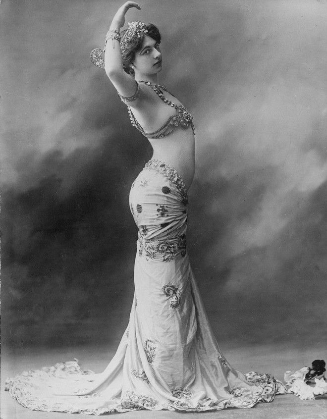 Exotic dancer Mata Hari is shown in this undated photo. Born Margaretha Geertruida Zelle, she was executed in 1917, during World War I, on charges of spying for Germany. Location of the photo is unknown. (AP Photo)