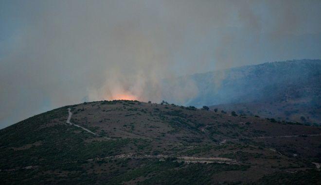 Φωτιά στην περιοχή Μακρυχώρι Ευβοίας