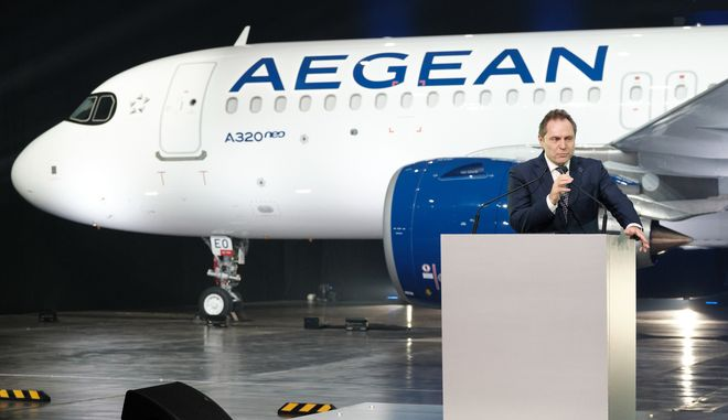 Ο κ. Ευτύχιος Βασιλάκης, Πρόεδρος της Aegean Airlines (ΔΗΜΗΤΡΗΣ ΠΑΠΑΜΗΤΣΟΣ)