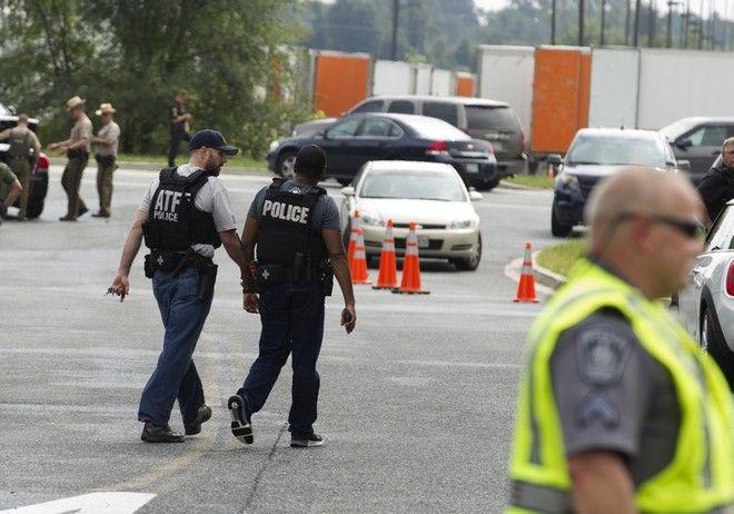 Φωτογραφία από το σημείο όπου σημειώθηκε η επίθεση, στο Μέριλαντ