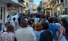 Στιγμιότυπο από τη πορεία Υπερηφάνειας στο Ηράκλειο της Κρήτης