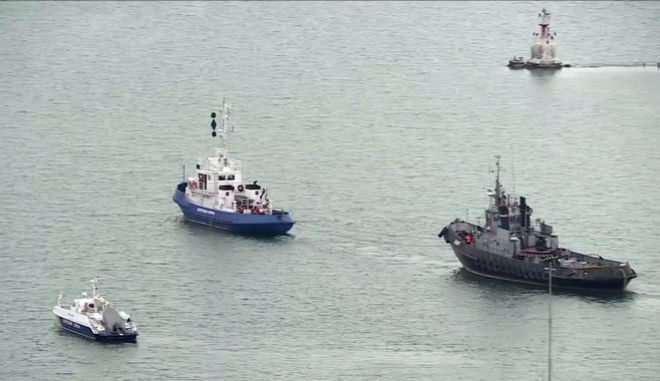 Τα πλοία που επέστρεψε η Ρωσία στην Ουκρανία