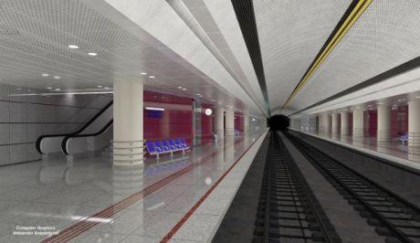 """Ψηφιακή απεικόνιση του σταθμού του μετρό """"Αγία Βαρβάρα"""" του πρώτου της επέκτασης που αναμένεται να παραδοθεί τους επόμενους μήνες"""
