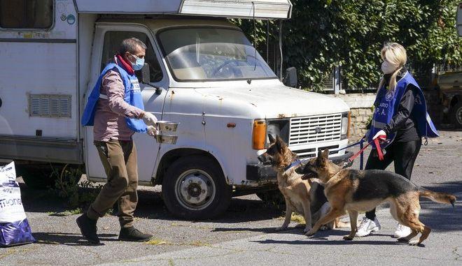 Εκπαιδευμένα σκυλιά στην Ιταλία