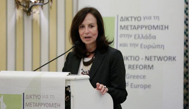 Η Άννα Διαμαντοπούλου (Φωτογραφία αρχείου)