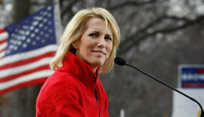 WASHINGTON - DECEMBER 15:  Conservative radio host and commentator Laura Ingraham addresses a health care reform protest on December 15, 2009 in Washington, DC. Demonstrators, many bused in from around the country, protested next to the Capitol building hoping to derail Senate health care legislation.  (Photo by John Moore/Getty Images) *** Local Caption *** Laura Ingraham