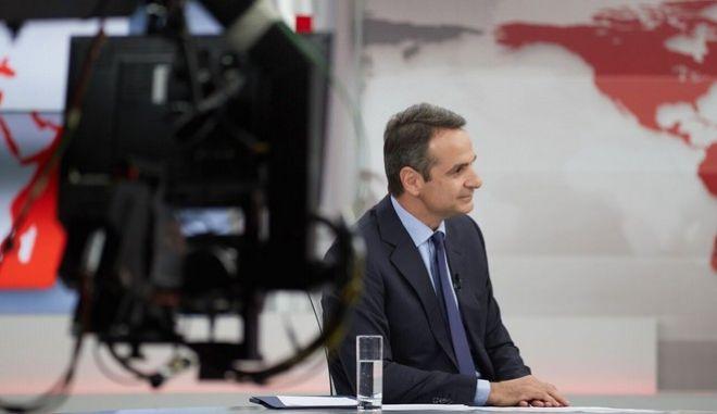 Συνέντευξη του Προέδρου της Ν.Δ. Κυριάκου Μητσοτάκη στον τηλεοπτικό σταθμό Alpha.