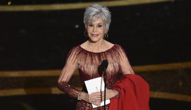 Η ηθοποιός Τζέιν Φόντα στα Βραβεία Όσκαρ