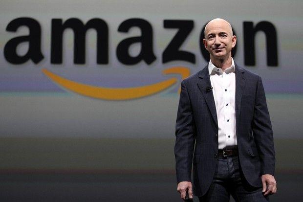 Amazon CEO Jeffrey P. Bezos at an Amazon Kindle Press Conference at the Barker Hangar on Thursday, Sept. 6, 2012, in Santa Monica, Calif.