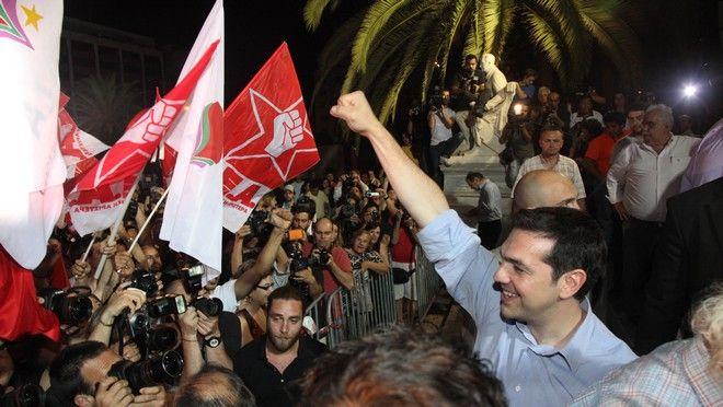 Ο Αλέξης Τσίπρας τη βραδιά των εκλογών του Ιουνίου το 2012