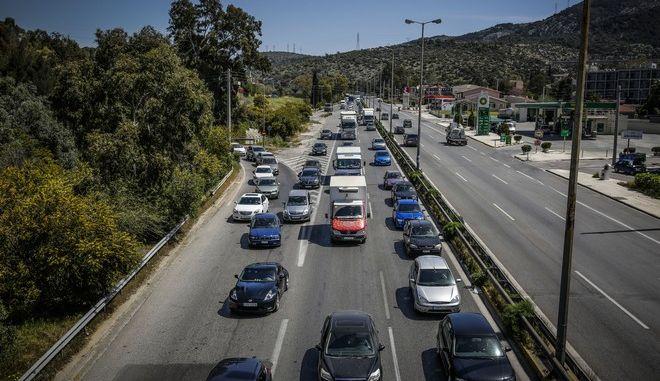 Στιγμιότυπο από την εθνική οδό Αθηνών -Κορίνθου