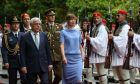Ο Πρόεδρος της Δημοκρατίας κ. Προκόπης Παυλόπουλος κατά την συνάντησή του με την Πρόεδρο της Εσθονίας κ. Κέρστι Κάλγιουλάιτ, στο Προεδρικό Μέγαρο